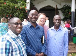 Our preaching team: Rodgers Atwemberiere, Eric Kamoga, Bruce Sinclair and Daniel Matovu